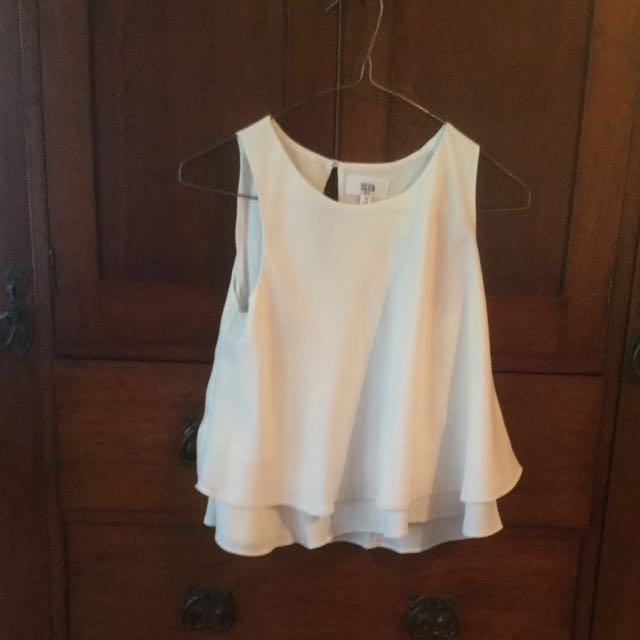 Girls Seed White Singlet