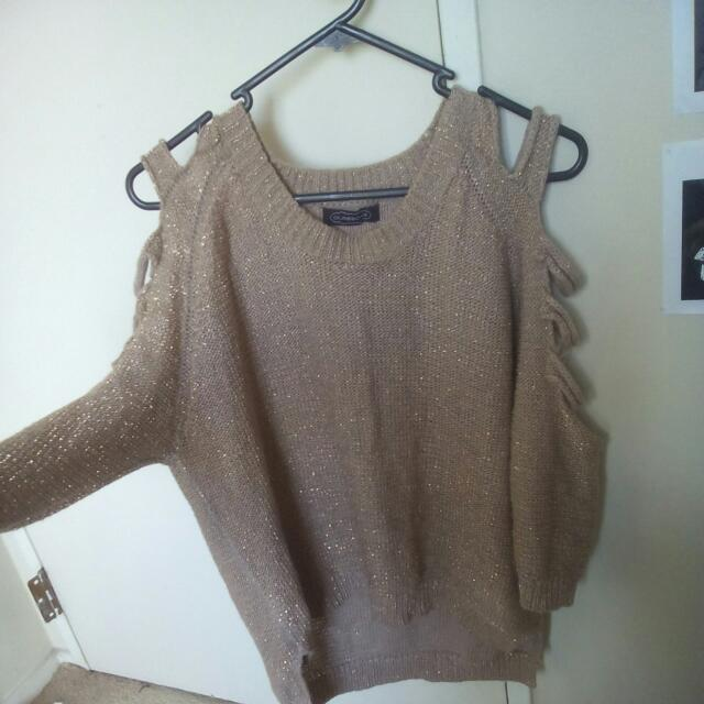 Glittery Gold Knitted Sweater
