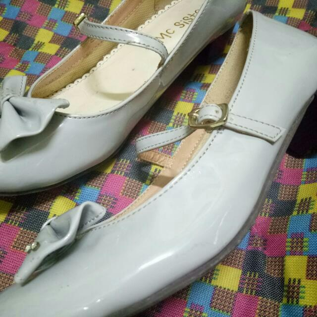 Gray Doll Shoes