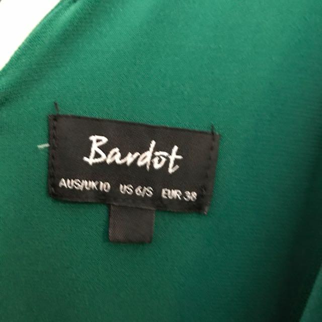 Green Bardot Dress