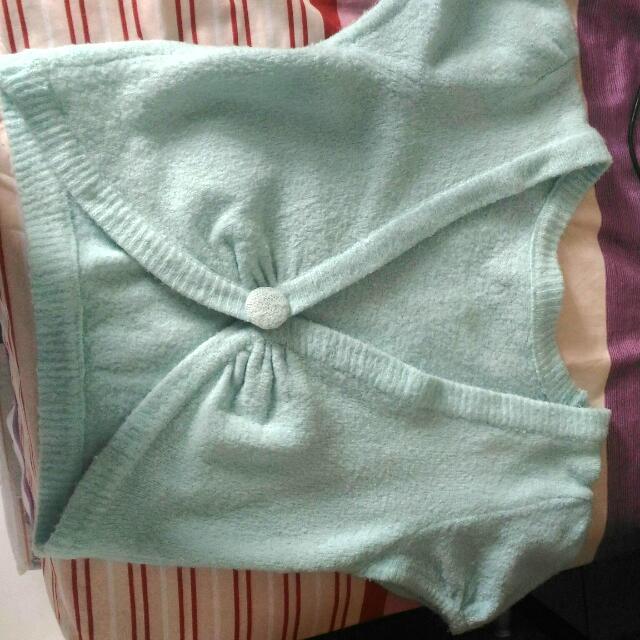 Green Short Sleeve Blazer