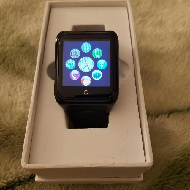 Heart Monitor Black Bluetooth Smart Watch