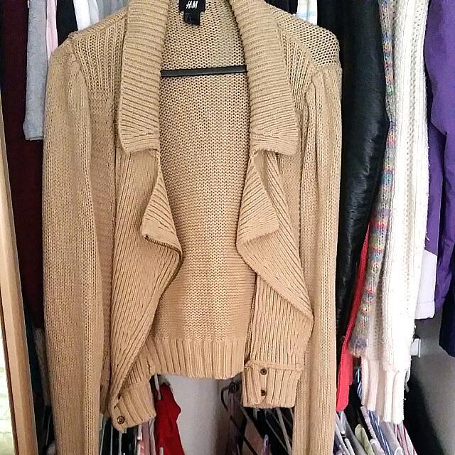 H&M Size M Beige Jacket