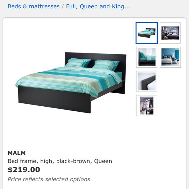 Ikea Malm Bed Frame , Queen