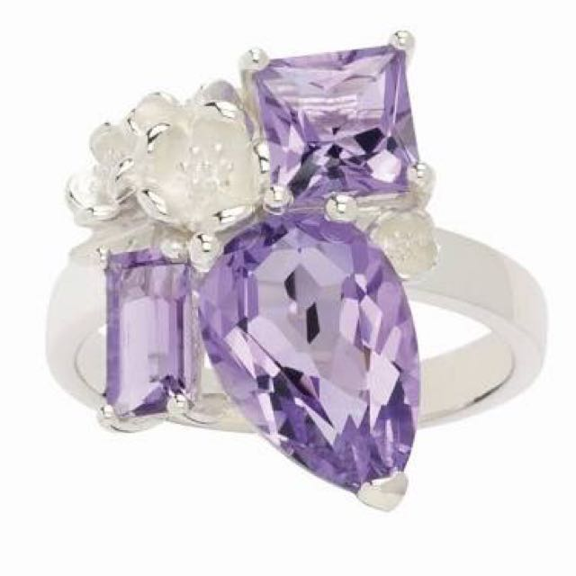 Karen Walker Rock Garden Ring - Silver and Amethyst