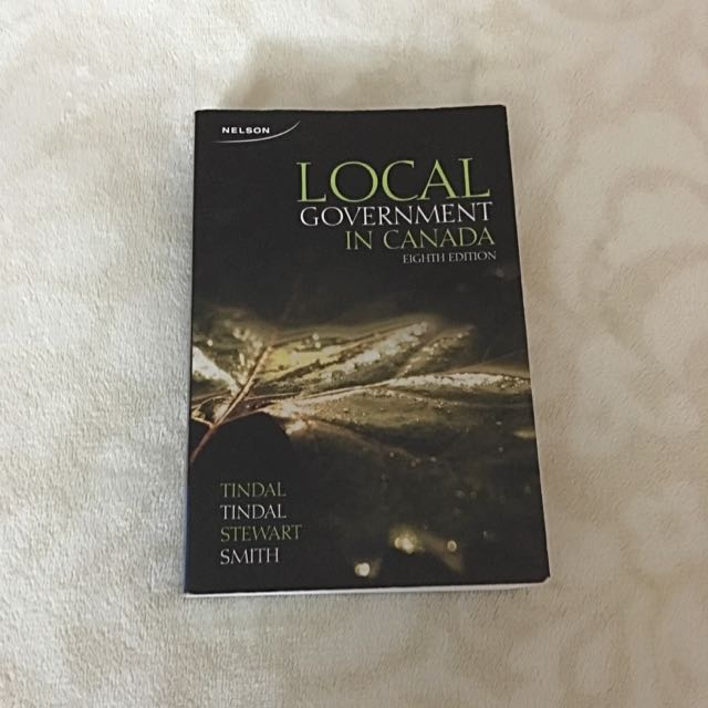 Local Government In Canada Book