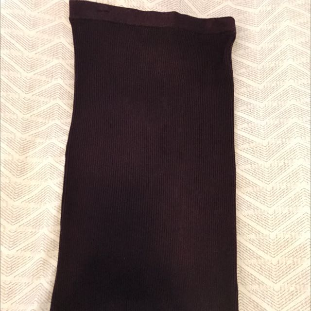 Maroon Knit Skirt