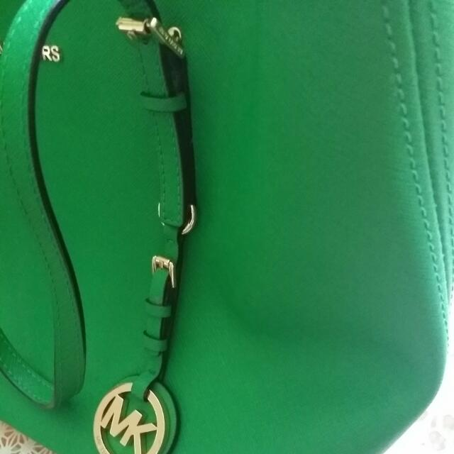 Repriced Michael Kors Small Jet Set Travel Saffiano Leather Tote