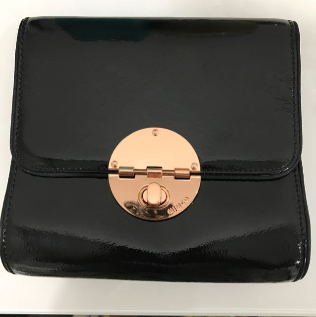 Mimco Leather Rose Gold Hip Bag