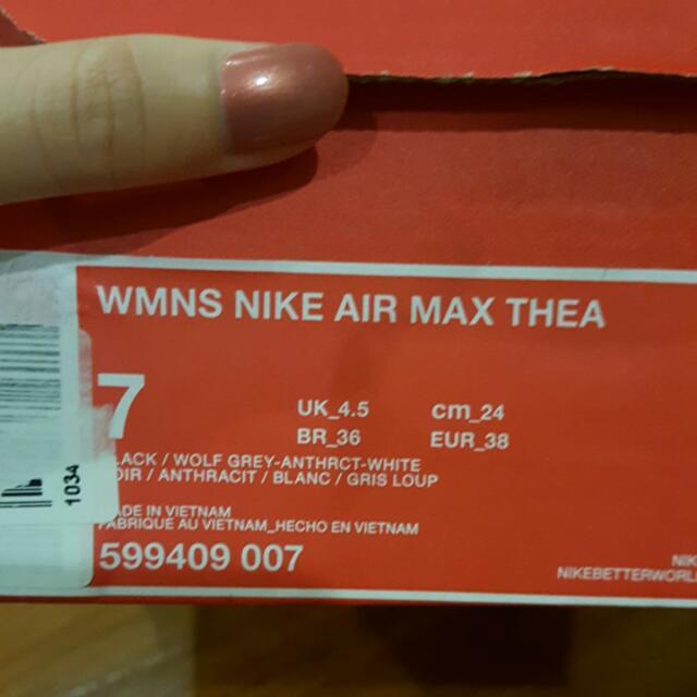 ORIGINAL NIKE AIR MAX THEA BLACK COLOUR (NEW)