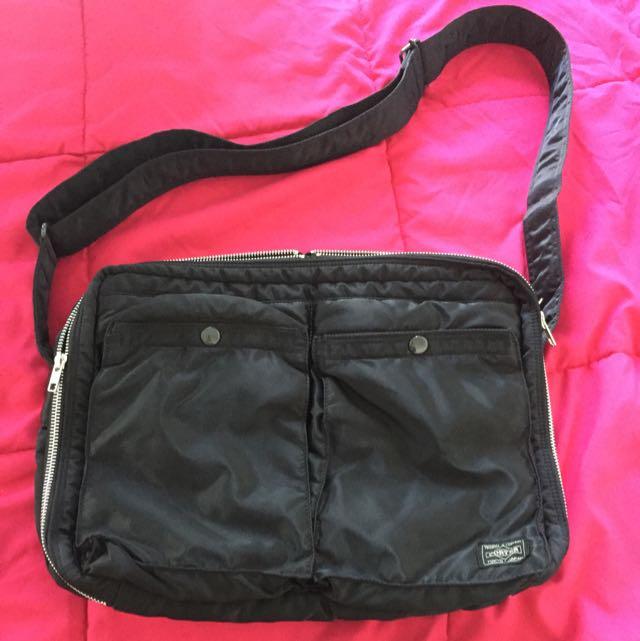 Yoshida PORTER Tokyo Japan Crossbody Sling Bag Nylon Blavk 094d12226957d