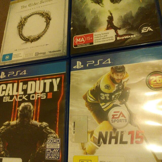 Ps4 Games $100 For Four Games $30 For One Or Ask For A Price