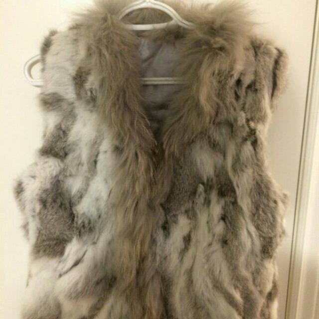 Real AUTHENTIC RabbitFur Vest