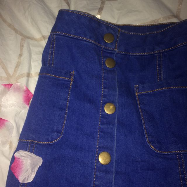 Royal Blue Button-up Skirt