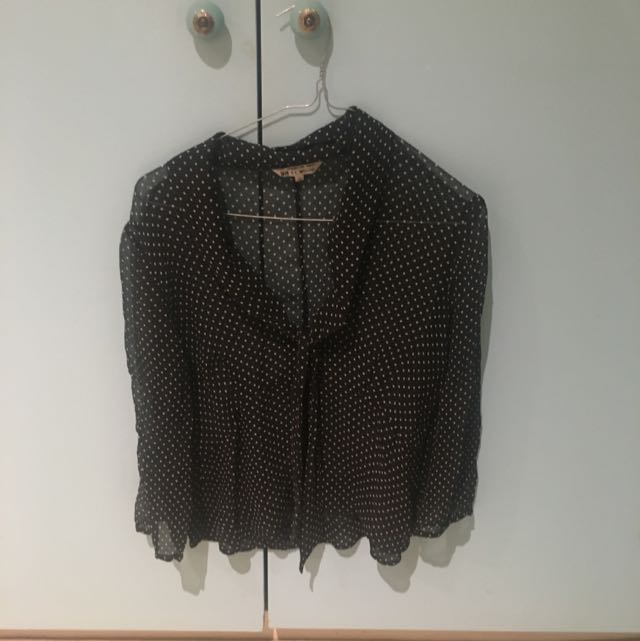 Sheer Spotted Shirt Size 8-12