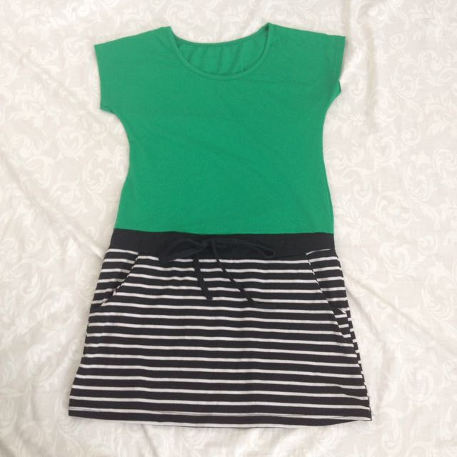 STRIPE GREEN DRESS