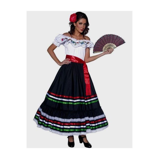 7ad014575a990 Off Shoulder Traditional Mexican Dress