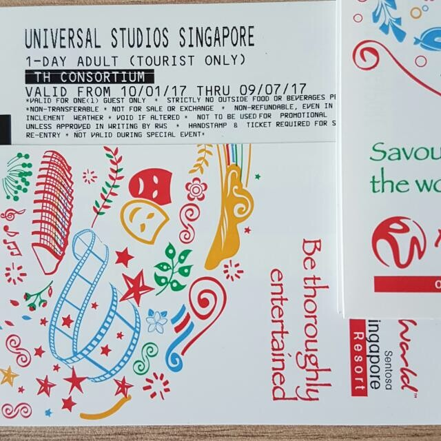 Universal Studio Singapore Physical Tickets