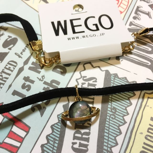 Wego 全新 土星 宇宙 渲染 頸圈 鍊 項鍊