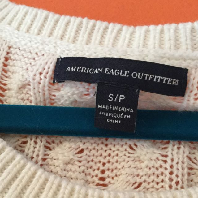White Knit Sweater American Eagle