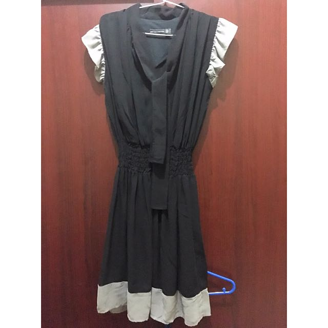 Zara basic dress black