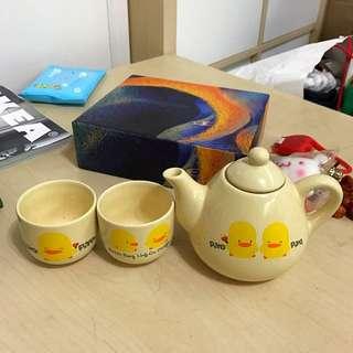 🚚 蛋蛋鴨茶壺/杯組