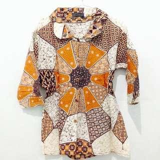 Batik Blouse - Light Brown