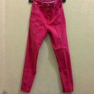 Celana Jeans Pink