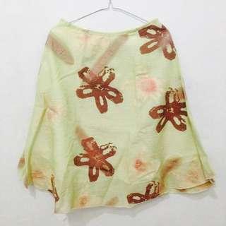 Floral Flare Skirt - Light Green