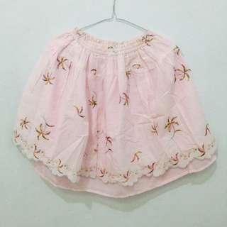 Floral Flare Skirt - Pink