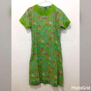 Batik Dress - Green