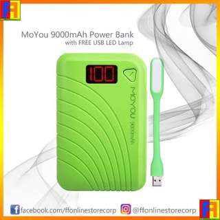 MoYou 9000 mAh Power Bank With Free USB LED Lamp