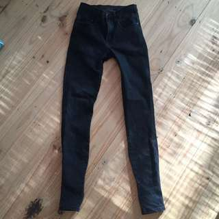 Nobody Black Cult High Rise Jeans 24