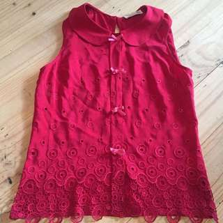 Alannah Hill Red Blouse Size 8