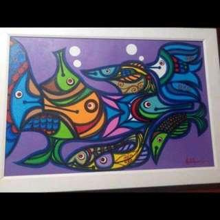 National Artist Dr.Abdulmari Imao Artwork
