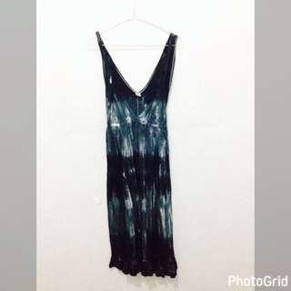 Bali Beach Wear Dress - Dark Blue