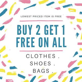 Buy 2 Get 1 Free On Everything!