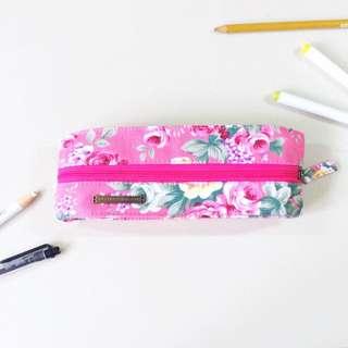 *RESERVED* Floral Pink Pencil Case