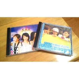 (含運)SHE CD兩張,首首經典老歌。