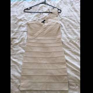 Bandage Dress - Beige Size M