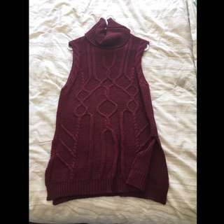 Ally Burgundy Knit Top Size M