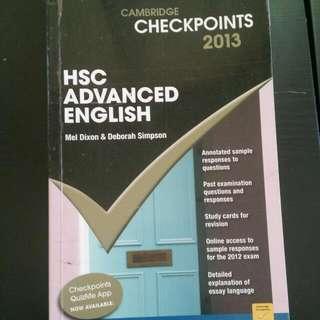 checkpoints hsc advanced English