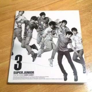 (含運)SUPER JUNIOR3 sorry sorry專輯。