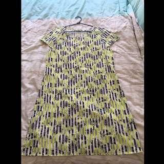 Temt Dress Size 10 Fluro Yellow