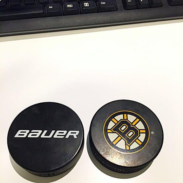 Boston Bruins Hockey Puck