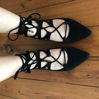 Wittner Lace Up Ballet Flats