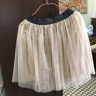 杏色 芭蕾舞 紗裙