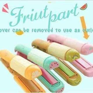 2 in 1 Fruit designed Hair Straightener / Curler