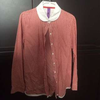 [REPRICE] Red Plaid Shirt