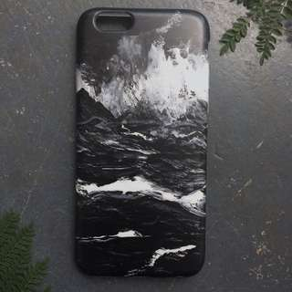 Static Marble Wave iPhone Case